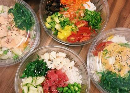 poke bowls catering
